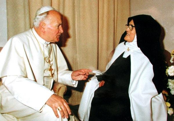 Giovanni Paolo II e Suor Lucia